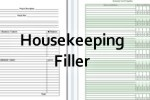 housekeeping filler paper