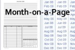month on a page filler paper