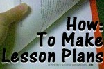 how to make simple lesson plans for homeschool