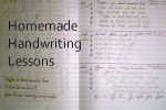 homemade handwriting lessons